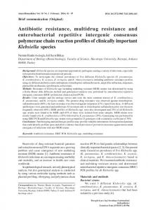 Antibiotic resistance, multidrug resistance and