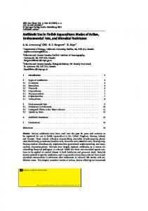 Antibiotic Use in Finfish Aquaculture: Modes of Action ...
