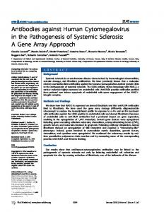 Antibodies against Human Cytomegalovirus in the