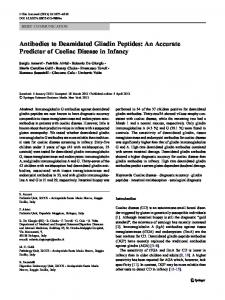 Antibodies to Deamidated Gliadin Peptides: An ...