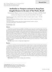Antibodies to Neospora caninum in sheep from slaughterhouses in the ...