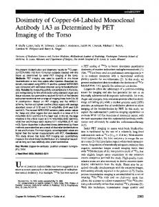 Antibody 1A3 as Determined by PET - Journal of Nuclear Medicine