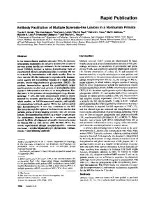 Antibody Facilitation of Multiple Sclerosis-like Lesions in Nonhuman ...