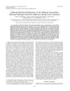 Antibody-Mediated Elimination of the Obligate ... - Infection and Immunity