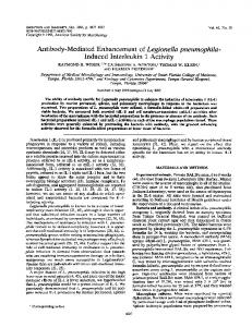 Antibody-Mediated Enhancement of Legionella ... - Europe PMC