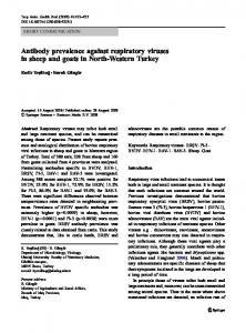 Antibody prevalence against respiratory viruses in sheep and goats in ...