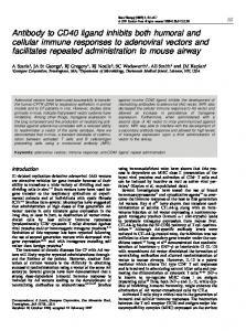 Antibody to CD40 ligand inhibits both humoral and cellular ... - Nature