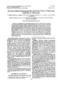 Antibody to Klebsiella - Journal of Clinical Microbiology - American