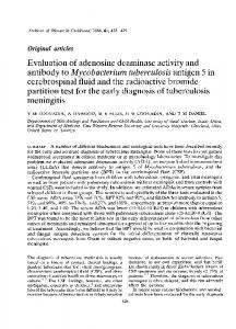 antibody to Mycobacterium tuberculosis antigen 5 in - PubMed Central ...