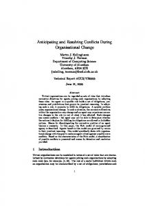 Anticipating and Resolving Conflicts During ... - Semantic Scholar