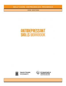 Antidepressant Skills Workbook - CARMHA - Centre for Applied ...