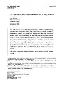 Antidepressants: Knowledge and Use Among ... - Semantic Scholar