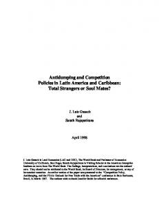 Antidumping and Competition Policies in Latin America and ... - SSRN