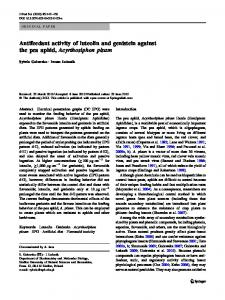 Antifeedant activity of luteolin and genistein against the ... - Springer Link