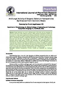 Antifungal Activity of Biogenic Selenium Nanoparticles Synthesized ...