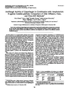 Antifungal Activity of Caspofungin in Combination with Amphotericin B ...