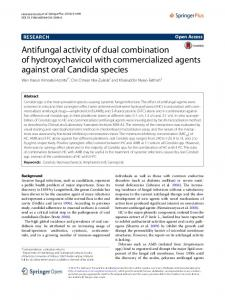 Antifungal activity of dual combination of ... - Springer Link