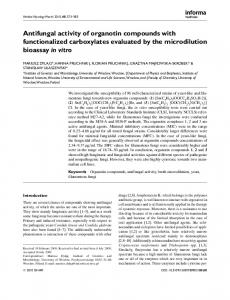 Antifungal activity of organotin compounds with functionalized