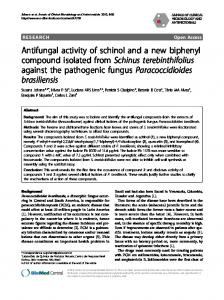 Antifungal activity of schinol and a new biphenyl ... - Springer Link