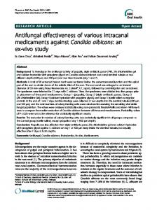 Antifungal effectiveness of various intracanal medicaments against ...