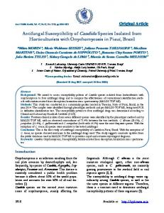Antifungal Susceptibility of Candida Species Isolated from