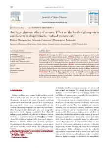 Antihyperglycemic effect of carvone: Effect on the levels of ... - Core