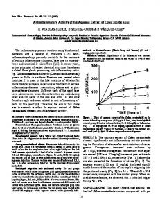 Antiinflammatory Activity of the Aqueous Extract of