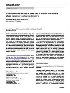 Antileishmanial activity in vitro and in vivo of ... - Springer Link