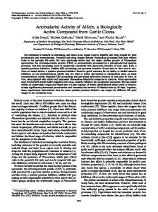 Antimalarial Activity of Allicin, a Biologically Active Compound from ...