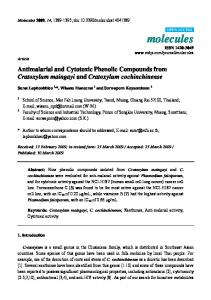 Antimalarial and Cytotoxic Phenolic Compounds from ... - MDPI