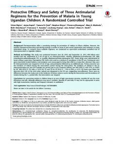 antimalarial regimens.pdf - India Environment Portal