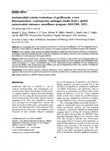 Antimicrobial activity evaluations of gatifloxacin, a new fluoroquinolone
