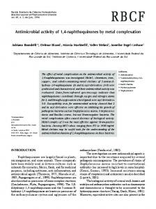 Antimicrobial activity of 1, 4-naphthoquinones by metal complexation
