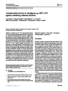 Antimicrobial activity of Alcaligenes sp. HPC 1271