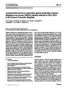 Antimicrobial activity of ceftaroline against methicillin ...