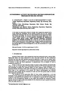 antimicrobial activity of colloidal silver nanoparticles prepared by sol ...