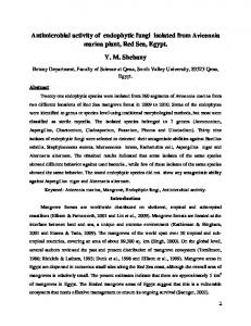 Antimicrobial activity of endophytic fungi isolated from ...