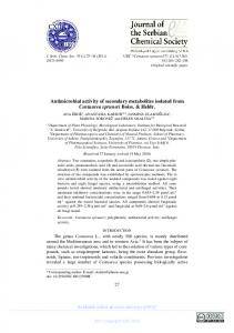Antimicrobial activity of secondary metabolites isolated from ...