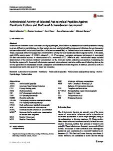 Antimicrobial Activity of Selected Antimicrobial