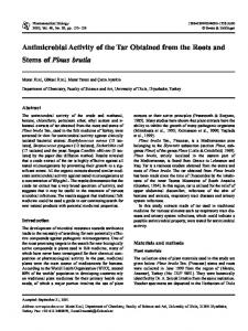 Antimicrobial Activity of the Tar Obtained from the Roots and Stems of ...