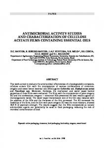 antimicrobial activity studies and characterization of ... - Chiriotti Editori