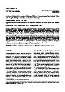 Antimicrobial and Synergistic Effects of Silver ... - BioMedSearch