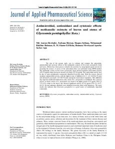 Antimicrobial, antioxidant and cytotoxic effects of ...
