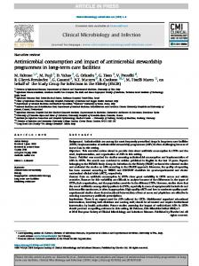 Antimicrobial consumption and impact of antimicrobial stewardship