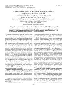 Antimicrobial Effect of Chitosan Nanoparticles on Streptococcus ...