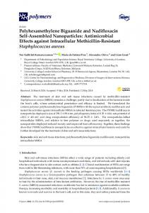 Antimicrobial Effects against Intracellular Methicill - MDPI