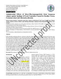 Antimicrobial Effects of Silver-Phyconanoparticles ...