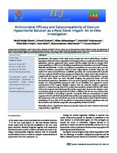 Antimicrobial Efficacy and Cytocompatibility of Calcium Hypochlorite