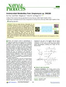 Antimicrobial Metabolites from Streptomyces sp ... - ACS Publications