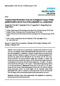 Antimicrobial Metabolites from the Endophytic Fungus Pichia ...